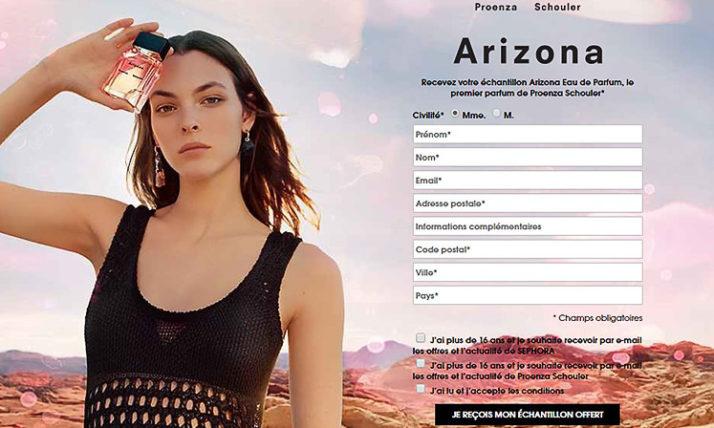 Echantillons gratuits du parfum «Arizona» de Proenza Schouler